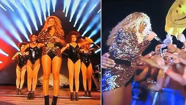 Beyonce performs at the Glastonbury music festival in England on June 26, 2011. - Provided courtesy of youtube.com/user/videohitschannel