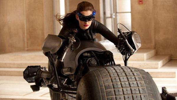 Anne Hathaway appears in a still from the 2012 movie 'The Dark Knight Rises'.