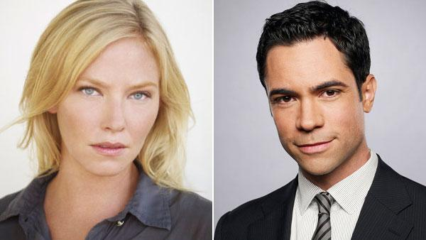 Left: Kelli Giddish in a promotional photo for the NBC series Chase. Right: Danny Pino in a promotional photo for the CBS series Cold Case. - Provided courtesy of NBC / CBS