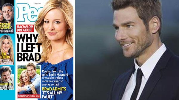 Pictured: Emily Maynard and Brad Womack appear on the cover of People magazine, as seen on the magazine's website on June 29, 2011 / Emily Maynard and Brad Womack appear on the ABC series 'The Bachelor' in 2011.