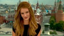 Rosie Huntington-Whiteley, a new comer to the Transformers franchise talks about her experience on the film.