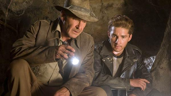 Harrison Ford and Shia LaBeouf appear in a scene from the 2008 film Indiana Jones and the Crystal Skull. - Provided courtesy of Lucasfilm Ltd.