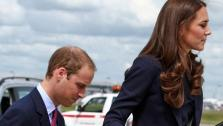 The Duke and Duchess of Cambridge board a plane of the Royal Canadian Air Force at Londons Heathrow Airport, Thursday June 30, to travel to Ottawa for their first overseas tour as a married couple. - Provided courtesy of AP / Steve Parsons, pool