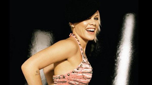 Pink appears in a promotional photo posted on her Facebook page on October 30, 2007. - Provided courtesy of Sony BMG / facebook.com/pink