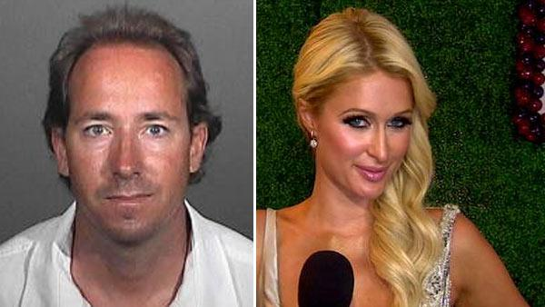 James Rainfords mug shot, released by the Los Angeles County Sheriffs Department. He was arrested on July 4, 2011 outside Paris Hiltons Malibu home. / Paris Hilton talks to OnTheRedCarpet.com about her show The World According To Paris in May 2011. - Provided courtesy of OTRC / Los Angeles County Sheriffs Department