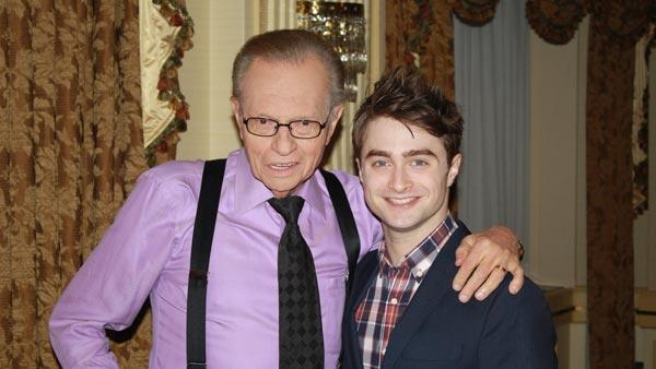 Larry King and Daniel Radcliffe appear in a photo from Larry King Lives official website. - Provided courtesy of CNN