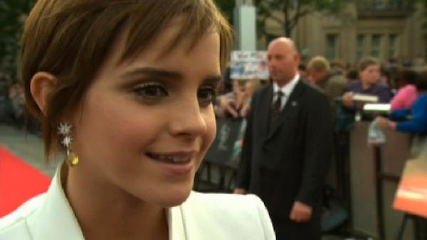 Emma Watson talks about saying goodbye to Hermione at the London premiere of Harry Potter and the Deathly Hallows Part II. - Provided courtesy of OTRC / Warner Bros. Pictures