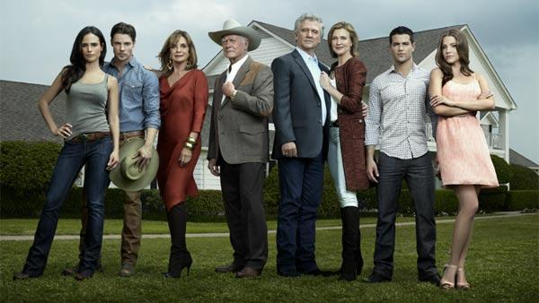 Linda Gray, Larry Hagman and Patrick Duffy appear in a promotional photo for the new Dallas series reboot, set to air on TNT in the summer of 2012. - Provided courtesy of TNT