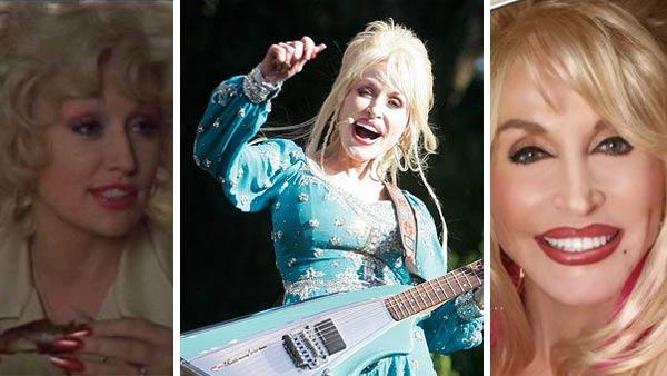 Dolly Parton in 'Steel Magnolias.' / Dolly Parton at the Hardly Strictly Bluegrass Festival in San Francisco on Oct. 2, 2005. / Dolly Parton appears in a publicity photofor 'Backwoods Barbie.'
