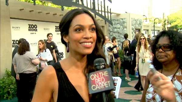 Rosario Dawson at the premiere of 'Zookeeper'