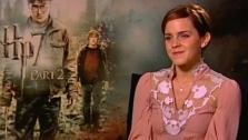 Emma Watson talks to OnTheRedCarpet.com in July 2011 about Harry Potter and the Deathly Hallows - Part 2. - Provided courtesy of OTRC