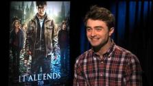 Daniel Radcliffe says the final Harry Potter film moves from a heist flick to a war film that will excite fans.