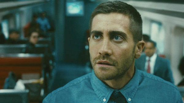 Jake Gyllenhaal as Colter Stevens in a scene from the 2011 film, Source Code. - Provided courtesy of Summit Entertainment