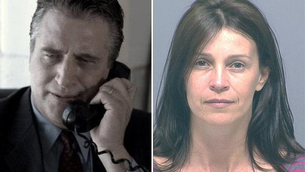 Daniel Baldwin appears in a still from the 2010 movie, 'The Truth.' / Joanne Clare Baldwin appears in a mugshot taken on July 13, 2011.