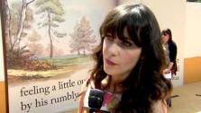 Zooey Deschanel talks to OnTheRedCarpet.com at the Hollywood premiere of Winnie the Pooh. - Provided courtesy of OTRC