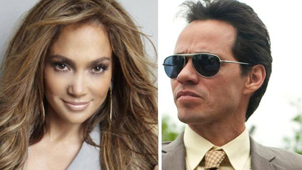Jennifer Lopez appears in a promotional photo for 'American Idol.' / Marc Anthony appears in a scene from the TNT series 'HawthoRNe' in 2010.