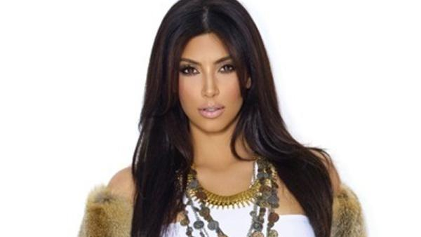 Kim Kardashian appears in an undated photo from her official Twitter account.