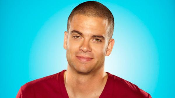 Mark Salling appears in a promotional photo for 'Glee.'