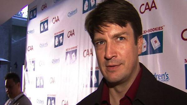 Nathan Fillion speaks to OnTheRedCarpet.com about 'Castle' at the 'Milk and Bookies' Story Time Celebration in Los Angeles on March 20, 2011.