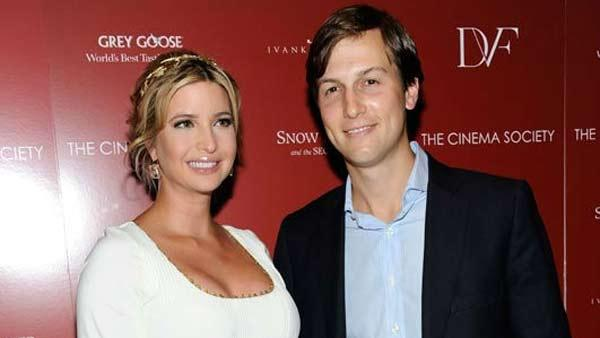 Television personality Ivanka Trump, and husband Jared Kushner attend a special screening of Snow Flower and the Secret Fan hosted by the Cinema Society at the Tribeca Grand Hotel on Wednesday, July 13, 2011 in New York. - Provided courtesy of AP / Evan Agostini