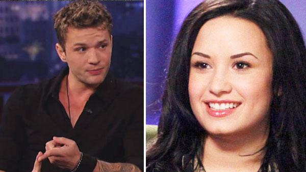Demi Lovato appears in a promotional still for her 20/20 interview with Robin Roberts in April 2011. / Ryan Phillippe appears on ABC talk show Jimmy Kimmel Live! on Monday, March 14, 2011. - Provided courtesy of ABC