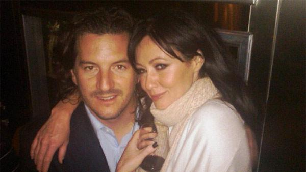 Shannen Doherty and Kurt Iswarienko appear in this photo posted on the actress' Facebook page on March 22, 2010.