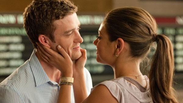 Mila Kunis and Justin Timberlake appear in a scene from Friends with Benefits. - Provided courtesy of Sony Pictures