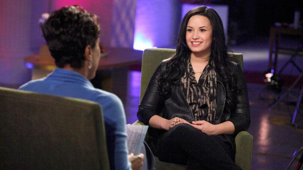 Demi Lovato appears in a promotional still for her '20/20' interview with Robin Roberts in April 2011.