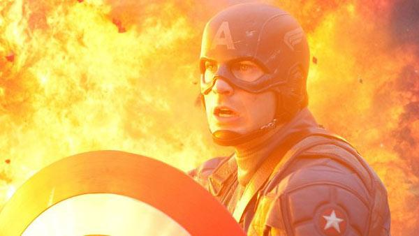 Chris Evans appears in a still from the 2011 film, Captain America. - Provided courtesy of Marvel Studios / Jay Maidment