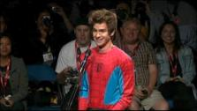 Andrew Garfield surprises Comic-Con fans during a panel for The Amazing Spider-Man. - Provided courtesy of none / Columbia Pictures