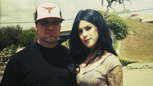 Jesse James and Kat Von D appear in a photo posted on her Twitter page on May 1, 2011.