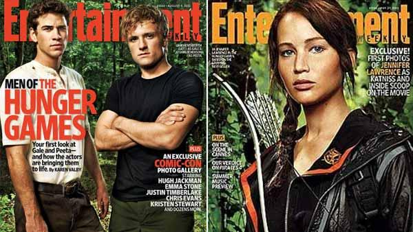 Josh Hutcherson, Liam Hemsworth and Jennifer Lawrence appears on the cover of Entertainment Weekly magazine. - Provided courtesy of EW