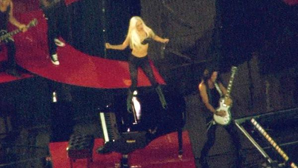 Lady Gaga practices for her performance on the ABC late-night talk show 'Jimmy Kimmel Live!' Thursday July 28, 2011.