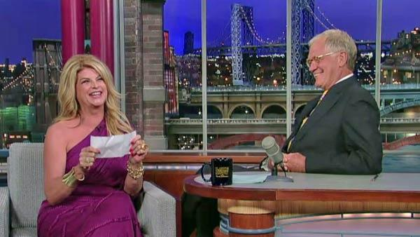 Kirstie Alley appears on Late Show With David Letterman on July 28, 2011. - Provided courtesy of CBS