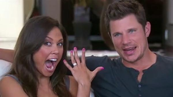 Nick Lachey and Vanessa Minnillo appear on Good Morning America. - Provided courtesy of ABC / ABC