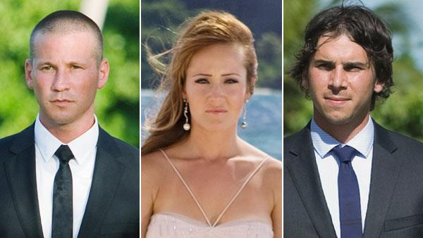 Ashley Hebert, Ben F. and J.P. appears in a promotional still from The Bachelorette. - Provided courtesy of ABC