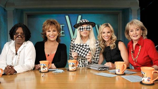 Lady Gaga co-hosts and performs on The View, on August 1, 2011. - Provided courtesy of ABC / ABC / Lou Rocco