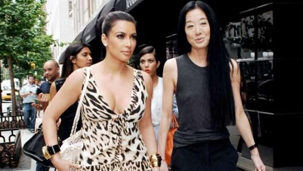 Kim Kardashian and Vera Wang appear in a photo posted on Kardashians official website. - Provided courtesy of kimkardashian.celebuzz.com