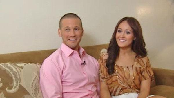 Ashley Hebert and J.P. appears in an interview with WABC on August 2, 2011. - Provided courtesy of WABC