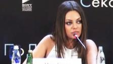 Mila Kunis appears in a Russian press conference for the movie Friends With Benefits. - Provided courtesy of YouTube