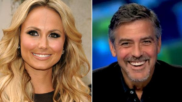 Left: Stacy Keibler arrives at the Spike TV Guys Choice Awards on Saturday, June 4, 2011, in Culver City, Calif. Right: George Clooney appears on Piers Morgan Tonight in an interview that airs on Jan. 21, 2011. - Provided courtesy of AP/Dan Steinberg/CNN