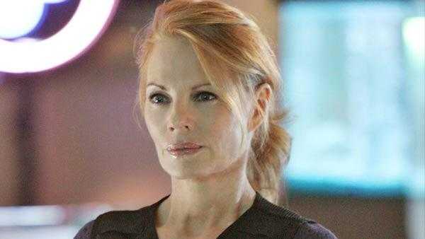 Marg Helgenberger in a scene from CSI - Provided courtesy of CBS