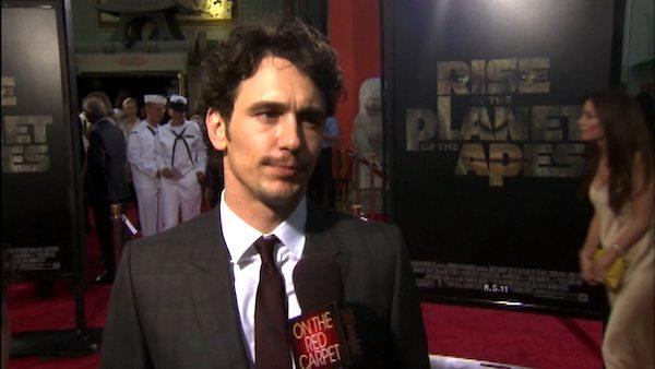 James Franco talks to OnTheRedCarpet.com at the Hollywood premiere of Rise of the Planet of the Apes. - Provided courtesy of OTRC