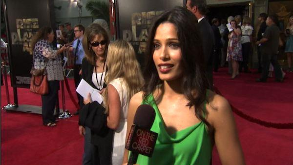 Freida Pinto talks to OnTheRedCarpet.com at the Hollywood premiere of Rise of the Planet of the Apes. - Provided courtesy of OTRC