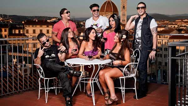 The cast of Jersey Shore appears in a promotional photo for the fourth season. - Provided courtesy of MTV / Ian Spanier
