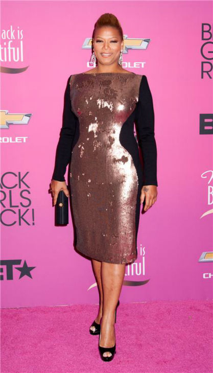 "<div class=""meta image-caption""><div class=""origin-logo origin-image ""><span></span></div><span class=""caption-text"">Talk show host Queen Latifah appears at BET's 2013 Black Girls Rock event in New York on Oct. 26, 2013. (Marcus Owen / Startraksphoto.com)</span></div>"