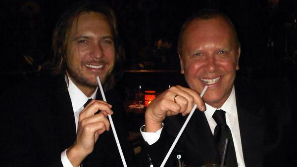 Michael Kors and Lance LePere appear in a photo posted on the designer's Facebook account on April 29, 2010.