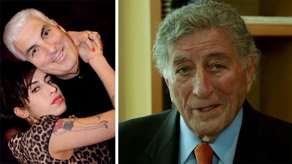 Amy Winehouse and her father, Mitch, appear in a photo posted on his website in 2011. / Tony Bennett appears in a video posted on his website on Aug. 3, 2011, his 85th birthday. - Provided courtesy of mitchwinehouse.co.uk