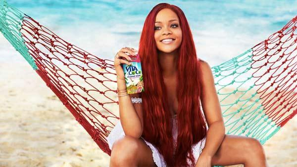 Rihanna appears in a 2011 advertisement for Vita Coco coconut water. - Provided courtesy of Vita Coco