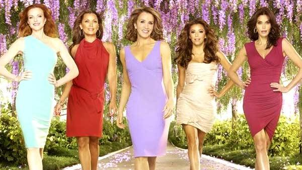 Marcia Cross, Vanessa Williams, Felicity Huffman, Eva Longoria and Teri Hatcher appear in a promotional photo for the ABC show Desperate Housewives. - Provided courtesy of ABC / Matthew Rolston